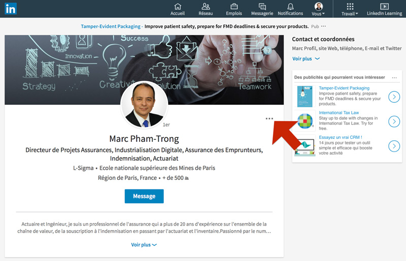 Linkedin Comment Recommander Vos Contacts Par Ecrit Orgaphenix